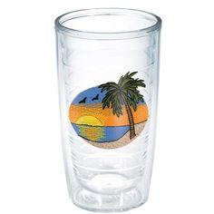 Sun and Surf Palm Tree Scene Tumbler