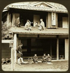 """thekimonogallery: """" This photo was taken by Herbert G. Ponting somewhere out in Japan's countryside. White stereoscope at views published in the USA by the same company. Ponting carried sample views and. Japanese History, Japanese Culture, Old Pictures, Old Photos, Vintage Photographs, Vintage Photos, Japan Countryside, Meiji Era, Japan Photo"""