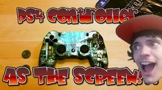 [Video] I thought it would be cool if the touch pad on the PS4 controller was a screen you could play on so I turned the whole thing into one! #Playstation4 #PS4 #Sony #videogames #playstation #gamer #games #gaming