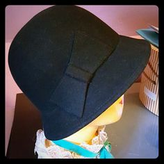 20s style Felt Hat New with Tags! Adorable black hat with flat bow accent. Mossimo Supply Co Accessories Hats