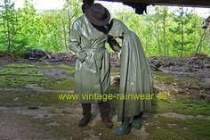 Rain Cape, Rain Wear, Latex, Raincoat, Vintage, Fashion, Womens Fashion, Accessories, Yellow Raincoat