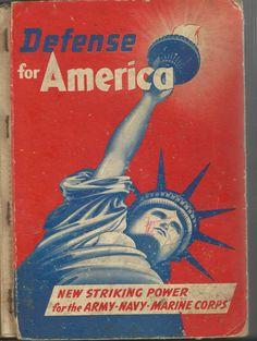 Vintage 1941  BookDefense of America / New by vintagepostexchange, $15.00