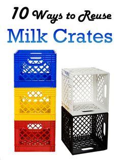 10 Creative Ways to Reuse Milk Crates #DIYprojects