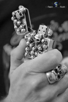 Skulls: #Skulls lighter and ring.