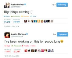 TWO BIGGEST TEASES OF THE YEAR GOES TO JUSTIN BIEBER AND AUSTIN MAHONE.