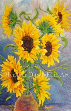Sunflowers 24 x 36 oil on canvas