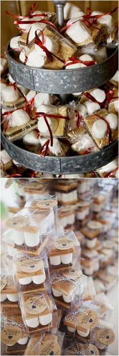 rustic wedding smore favor ideas  #rusticwedings #weddings #weddingideas #weddingfavors