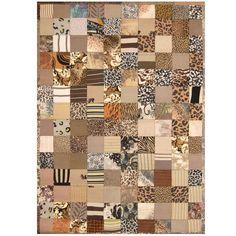 Herat Oriental Indo Hand-stitched Memory Foam Cotton Patchwork Rug (5'4 x 7'6) (Handmade Patchwork Rug), Multi, Size 5' x 7'