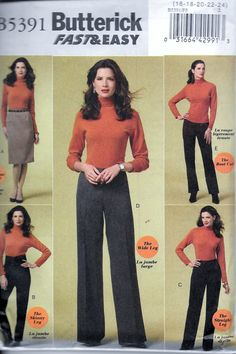 c07b44c50b2 Sew   Make Butterick B5391 Womens Pants by VintagePatternStore Skirt  Patterns Sewing