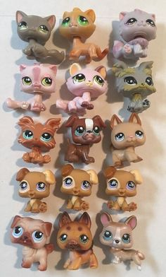 Lot of 15 Littlest Pet Shop Cats Dogs 5 Cats 10 Dogs | eBay