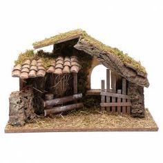 Empty hut with fence cm Christmas Crib Ideas, Christmas Manger, Pallet Christmas Tree, Cool Christmas Trees, Christmas Villages, Beautiful Christmas, Christmas Crafts, Christmas Decorations, Christmas Holiday