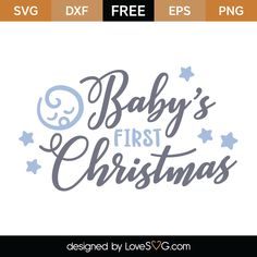 Free Baby's First Christmas SVG Cut File | Lovesvg.com Cricut Christmas Ideas, Babys 1st Christmas, Baby First Christmas Ornament, Christmas Vinyl, Baby Ornaments, Christmas Design, Christmas Shirts, Christmas Ornaments, Christmas Crafts