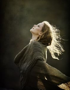 The feelings from this shot.  Wind, movement, fabric, hair, backlight, Authurian/Celtic/Norse/LotR.