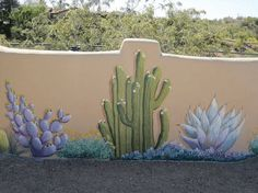 Fence Art – 25 pieces of art using a backyard fence as the canvas Fence mural, fence art, painted fence, garden art Art Mural, Mural Painting, Wall Murals, Fence Painting, Backyard Fences, Garden Fencing, Box Garden, Cinder Block Walls, Cinder Blocks