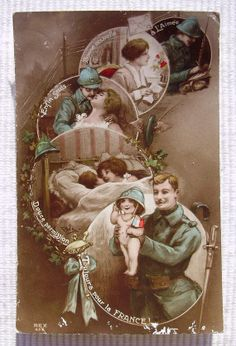 Vintage / Antique French WW1 Patriotic Postcard by ChicEtChoc, $4.50