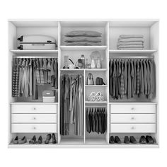 closet layout 773211829753908713 - Guarda-Roupa Casal Bari 6 Portas 6 Gavetas Branco Source by Walk In Closet Design, Bedroom Closet Design, Master Bedroom Closet, Home Room Design, Closet Designs, Bedroom Built In Wardrobe, Wardrobe Storage, Bedroom Wardrobe, Wardrobe Closet
