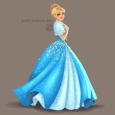 "4,714 Likes, 15 Comments - Greco Archibald • 26 (@archibald.art) on Instagram: ""Disney Princesses x : CINDERELLA . . . Cinderella in Mestiza Gown (Formal version of the Baro't…"""