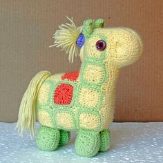 Knitted Horse — Вязаная Лошадка (20x15x10sm)
