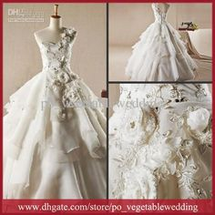 Wholesale Exquisite Authentic Newest Strapless Exquisite Applique Crystals Layered Organza Zipper Ball Gown Wedding Dresses, Free shipping, $173.6-196.0/Piece | DHgate