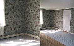 Hålla hus-följ en restaurering tapet Vera Sandbergs golv kimröksgrå linoljefärg