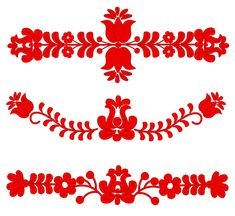 Hungarian Embroidery Patterns Set of Machine Embroidery Designs - Red Hungarian folk art sizes) Hungarian Embroidery, Folk Embroidery, Learn Embroidery, Machine Embroidery Patterns, Modern Embroidery, Chain Stitch Embroidery, Embroidery Stitches, Duct Tape, Stitch Head