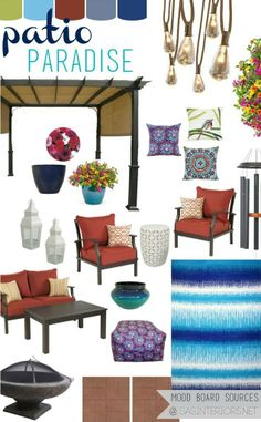 Patio Paradise Mood Board: Creating an inviting, relaxing patio oasis with products found at Lowe's!