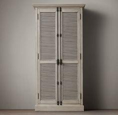 Shutter Double-Door Cabinet