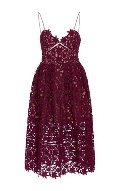 Azalea Sweetheart Midi Dress by SELF PORTRAIT Now Available on Moda Operandi