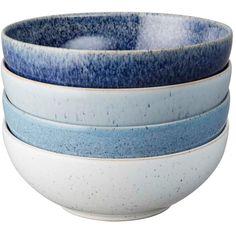 Denby Studio Blue Flingskål 17 cm, 4-Pack · Materialet är tåligt - ✓ Upptäck Sveriges största urval Blue Dinnerware, Soup Mugs, Canvas Home, Cereal Bowls, Casual Chic Style, Bowl Set, Stoneware, Decorative Bowls, Studios