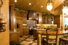 Beautiful rustic kitchen in Wyoming by Peppertree Kitchen and Bath