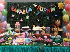 Festa jardim com rei leão para as amigas rafaela e sophie - decoração mini mimo festas