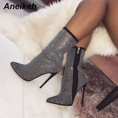 check out 13516 b4e9e Rhinestones High Heels