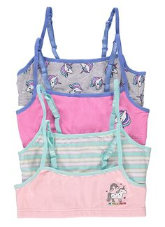 Buy Fun Unicorn Girls Training Bras - Crop Tops - Unicorn - online, more latest style of Girls' Training Bras sale at affordable price. Kids Outfits Girls, Cute Girl Outfits, Cute Outfits For Kids, Justice Bras, Justice Girls Clothes, Teen Bras, Baby Born Clothes, Preteen Fashion, Girls Crop Tops