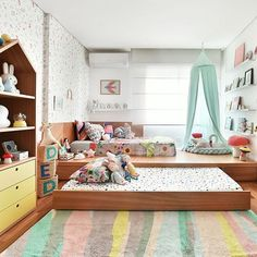 kids room decoration quotes about life Boy And Girl Shared Bedroom, Baby Bedroom, Room Decor Bedroom, Girls Bedroom, Kids Bedroom Designs, Home Room Design, Kids Room Design, Ethnic Home Decor, Dream Rooms