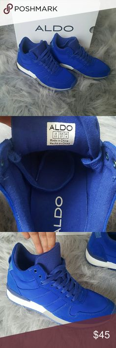 Sneakers Royal blue sneakers, worn once still in good condition Aldo Shoes Sneakers