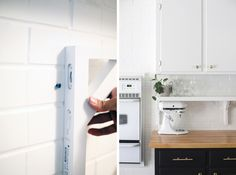 Ikea Shelves. How to reconfigure your existing cabinets for a fresh looking kitchen design