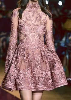 Detail at Zuhair Murad Haute Couture Fall/Winter 2016-17