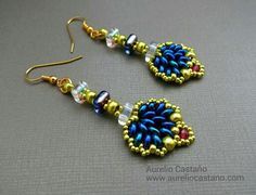 Earrings with Chexx Beads.