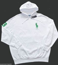Ralph Lauren Polo Big Pony Green Hooyd Sweat shirt