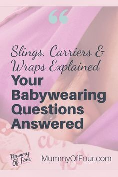 Are you interested in babywearing but not sure where to start? Is your mind boggled by all of the options of slings and carriers available? Read on to have all of your babywearing questions answered. Breastfeeding Problems, Breastfeeding Tips, Baby Tips, Baby Hacks, Kangaroo Care, Last Child, Baby Bouncer, Skin To Skin, Emotional Development