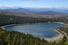 Three Creeks Lake from Tam McArthur Rim. 25 miles from FivePine Lodge in Sisters, Oregon.