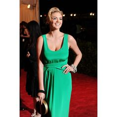 Kate Upton Green Discount Prom Dress 2013 Met Ball Red Carpet
