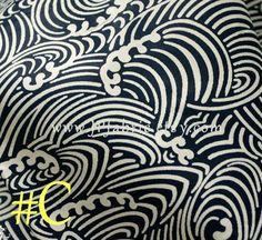 Nautical Fabric. Japanese Wave fabric. Pure Cotton. Blue White Fabric. Handcraft fabric. Tissu Japonais. JP100031-C by JPfabric on Etsy https://www.etsy.com/listing/239979430/nautical-fabric-japanese-wave-fabric