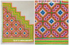 Boy's Hmong Thai front shirt pattern www.theartofhmongembroidery.wordpress.com