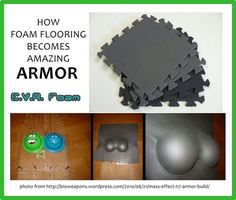 How to make armor from foam flooring