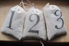 NEW farmhouse style numbered lavender sachets set by OkioBDesigns