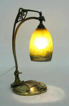 AN ART NOUVEAU TABLE LAMP Muller freres