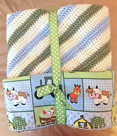 enfant afghan crochet bb couvertures de bonneterie tissu john deere chambres des garons crochet toddler baby toddler lined crocheted rubin