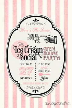 Free Printable Ice Cream Social Invitation from BusyMommyMedia.com ...