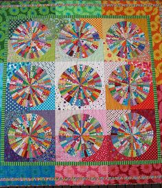"""Spot On"" Circle Quilt by Red Pepper Quilts"